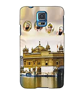 Fuson Designer Back Case Cover for Samsung Galaxy S5 :: Samsung Galaxy S5 G900I :: Samsung Galaxy S5 G900A G900F G900I G900M G900T G900W8 G900K (Golden temple theme)
