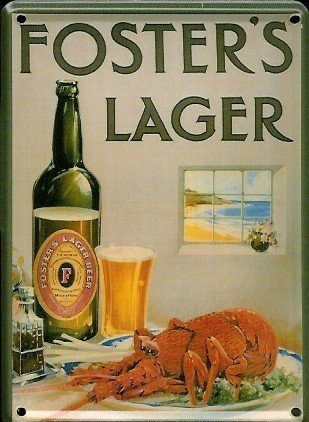 fosters-lager-lobster-metal-postcard-mini-sign-hi