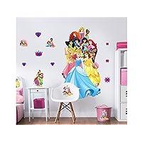 Disney Princess Character Sticker Set, Vinyl, Multi-Colour, 7 x 7 x 52.5 cm