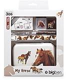 bigben Nintendo 3DS -Zubehörpaket - Zubehör-Set Horse, Pferd mit Fohlen