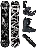Airtracks Snowboard Set - Board Twisted Wide 162 - Softbindung Master - Softboots Master QL 44 - SB Bag