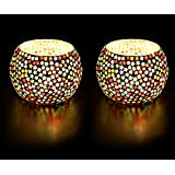 Derien Decorative Mosaic Star Candle Holder Set Of 2 (DE104)