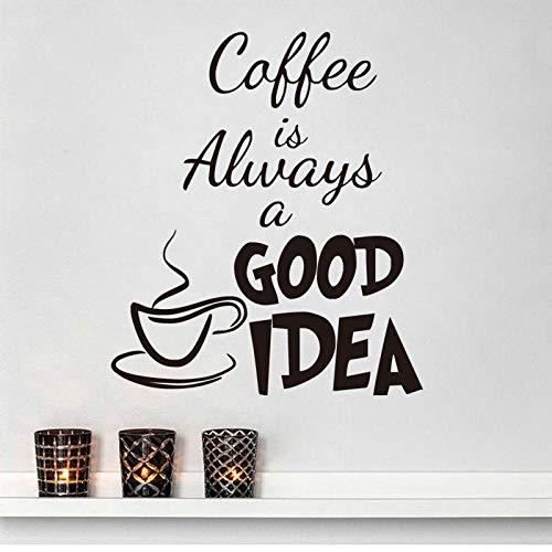 er gute Idee englische Kaffeetasse geschnitzte Wandaufkleber Glasaufkleber ()