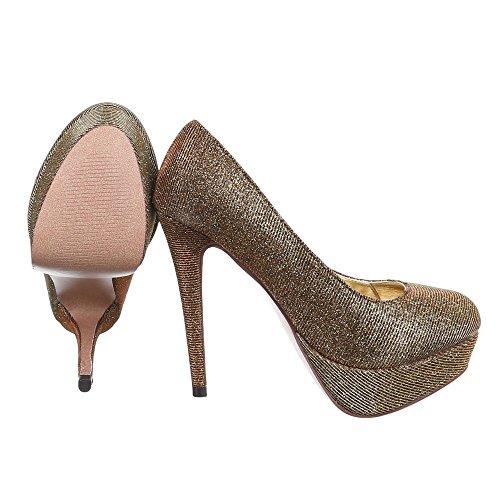 Ital-Design , Escarpins femme Gold 2120-P