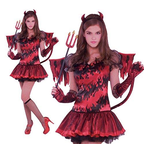Roter Teufel Teenie Kostüm