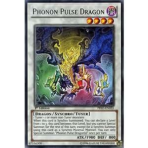 YuGiOh : PRIO-EN055 1st Ed Phonon Pulse Dragon Rare Card - ( Primal Origin Yu-Gi-Oh! Single Card )