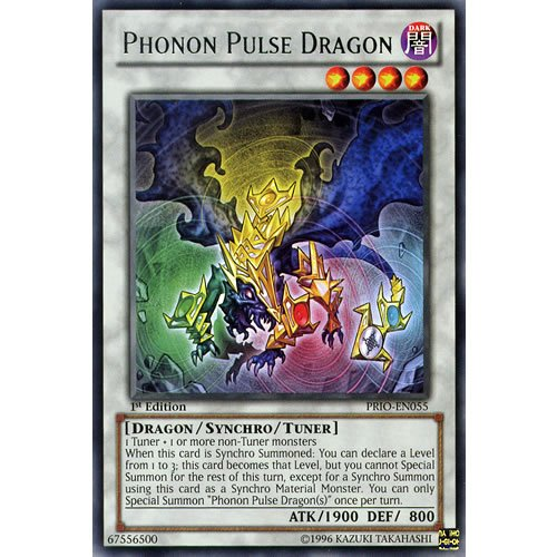 YuGiOh : PRIO-EN055 1st Ed Phonon Pulse Dragon Rare Card - ( Primal Origin Yu-Gi-Oh! Single Card ) by Deckboosters (Synchro Material)