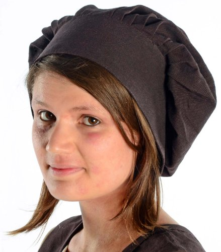 Haube Mittelalterliche (HEMAD Damen Mittelalter Haube mit Schild braun)