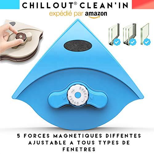 ChillOut Clean'in Lava - Limpiacristales magnéticos de doble cristal con doble acristalamiento, potencia...