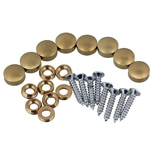 RDEXP Golden Kupfer Fittings 16 mm Spiegel Schraube Kappe Nail Silber Schränke Möbel-Set von 8