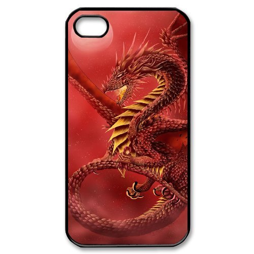 LP-LG Phone Case Of Red Dragon For Iphone 4/4s [Pattern-6] Pattern-1