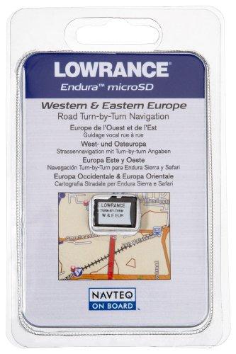 Lowrance SD-Karte Update Road turn-by turn Navigation West & East Europa Lowrance-karten