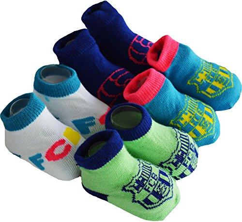 Geschenkset für Baby–4Paar Socken Barça–offizielle Kollektion FC Barcelona–Größe: Baby Jungen, Baby Junge, blau -