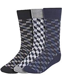 CREATURE Men's 100% Cotton Seamed Calf Socks