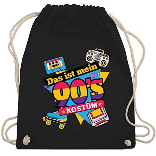 Karneval & Fasching - Das ist mein 90er Jahre Kostüm - Unisize - Schwarz - WM110 - Turnbeutel & Gym - Schwarzen 90er Jahre Kostüm