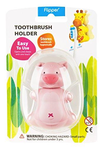 Flipper Toothbrush Holder Fun Animal Piggy