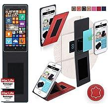 Funda para Nokia Lumia 930 en Cuero Rojo - Innovadora Funda 4 en 1-Anti-Gravedad para Montaje en Pared, Soporte de Tableta en Vehículos, Soporte de Tableta - Protector Anti-Golpes para Coches y Paredes sin necesidad de herramientas o pegamento - Funda de Reboon para Nokia Lumia 930 Original