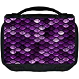 Rosie Parker Mermaid Scales Print Design Travel Sized Hanging Cosmetic/Toiletry Case With 3 Compartments And Detachable...