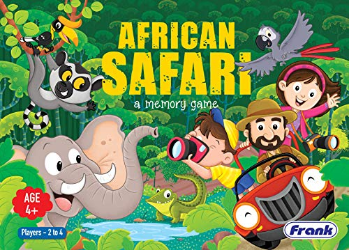 Frank African Safari Memory Board Game Puzzle for 4 Year Old Kids and Above