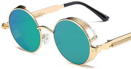 Pomo-Z Premium Retro Round Metal Unisex Sunglasses