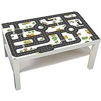 Preisvergleich für Möbelaufkleber Straßen - passend für IKEA LACK Couchtisch - groß - Kinderzimmer Spieltisch - Möbel nicht inklusive