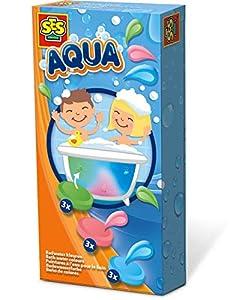 SES Creative Aqua Baño de Colores SES - Juegos, Juguetes y Pegatinas de baño (Pintura para baño, Niños, 3 año(s), Niño/niña, Multicolor, Países Bajos)