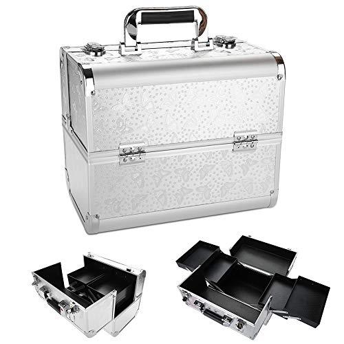 Caja Mano Maquillaje Belleza Aluminio Gran Capacidad