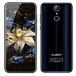 CUBOT X18 Unlocked 4G Smartphone with 5.7 Inch 18:9 Large Screen Android 7.0 MTK6737 Quad Core 2.5D Arc Screen 3GB RAM+32GB ROM 8MP+13MP Dual Cameras 3200mAh Removable Battery Dual SIM Dual Standby Fingerprint GPS WIFI Bluetooth - Blue