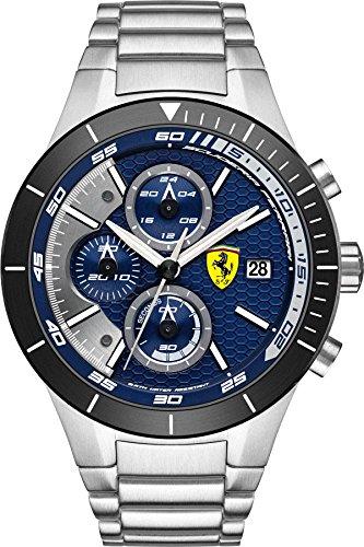 Scuderia Ferrari Orologi Herren-Armbanduhr Red Rev Evo Analog Quarz Edelstahl 0830270