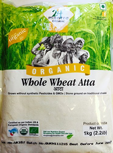 24 Mantra Organic Wholewheat Atta Premium
