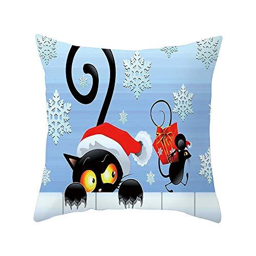 Vovotrade Kissenbezug Sofa, Weihnachten Süße Katze Muster Indoor/Outdoor (Gartenstuhl),...