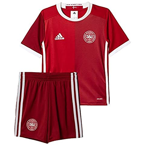 Adidas Children's Denmark DBU H Mini Football Jersey, Powred/Crared, 5-6 Years (Manufacturer Size: