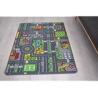 Bravich RugMasters MediumKids Roadmap Game City, Soft Children Street Carpet, Fun Play Mat City Design Kids Rugs Non Slip Play Mats95x133 CM (2