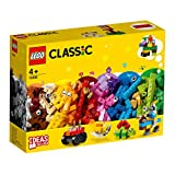 LEGO 11002 Classic Basic Brick Set with Wheels and Eyes for Kids 4+ Years Old, and Creative Building Ideas Young Builders (300 Pieces)