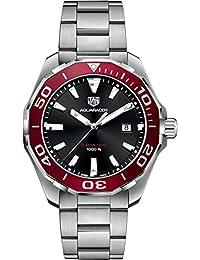 Tag Heuer Aquaracer Schwarz & Rot 43mm Herren-Armbanduhr way101b. ba0746