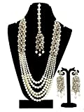 #7: Traditional Jewellery Kundan Pearl Necklace Set with Earrings For Women