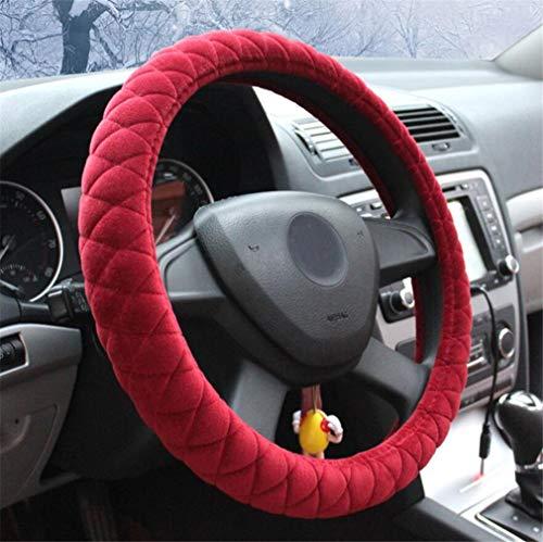 ELEGENCE-Z Hochwertige Plüsch Auto Lenkradabdeckung, Stilvolle und Einfache Rutschfeste Wärme Short Plüsch Lenkrad Abdeckung-38 cm (Lenkrad Wärme Abdeckung)