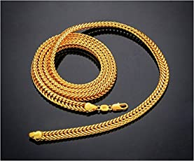 Anvi Jewellers 22Ct Pure Gold And Rhodium Coated Chain For Women
