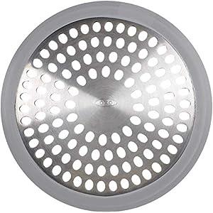 OXO Good Grips Bathtub Drain Protector, Stainless Steel, Grey