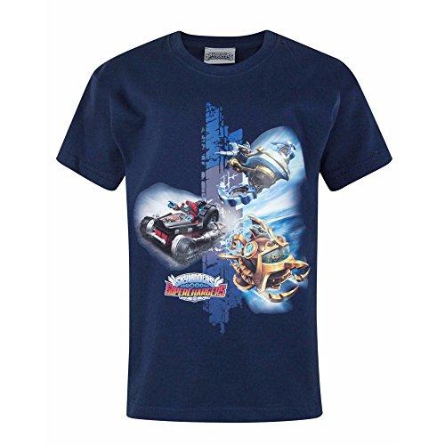 Skylanders Jungen Superchargers Doom T-Shirt (Jahre (9/10)) (Marineblau)