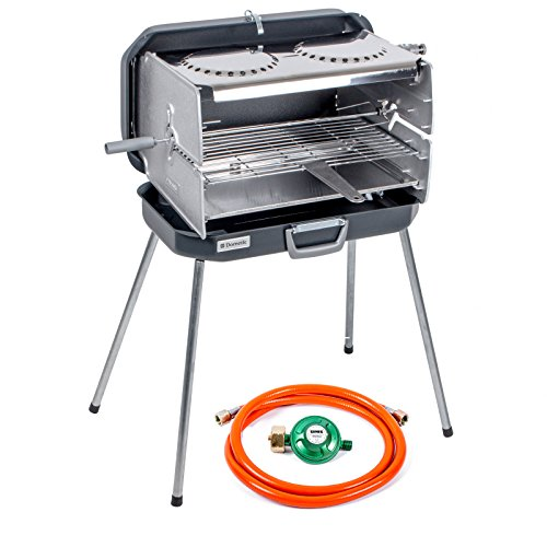 Dometic Case Classic 2�Gas Barbecue 50�mbar, 4.3�Heater in Stainless Steel, Including Gas Pressure Regulator and Hose