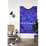 Double Tie and Dye Mandala Wall Hangings Tapestry, Gypsy Cotton Blanket Quilt,