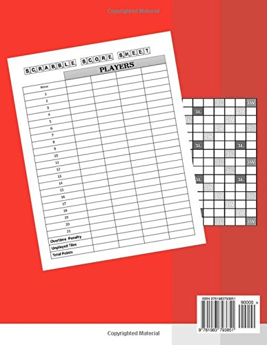 Scrabble Score sheet For 4 Player: 100 pages scrabble game word ...