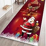 Mitlfuny Weihnachten Home TüR Dekoration 2019,Frohe Weihnachten Willkommen FußMatten Indoor Home Carpets Decor 40x120CM
