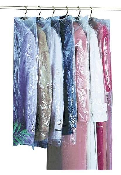 LINVINC Housses de V/êtements *5 100x60cm Anti-Poussi/ère Protection pour Chemise Costume Sac de V/êtement de Voyage avec Zip,