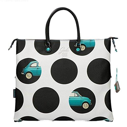 CASPAR TS1032 Joli sac de plage ou de shopping grand format aux couleurs estivales, Couleur:multicolor braun;Taille:One Size