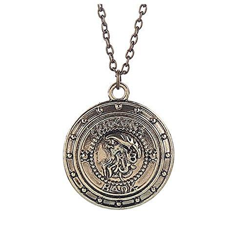 Cuello colgante de plata de ley con joyas Harry Potter banco gringotts cadena escudo accesorios joyas dorado y de diseño de joyas en oro