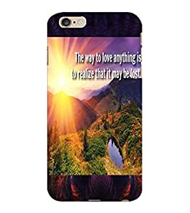 ColourCraft Beautiful Image with Quote Design Back Case Cover for APPLE IPHONE 6S PLUS