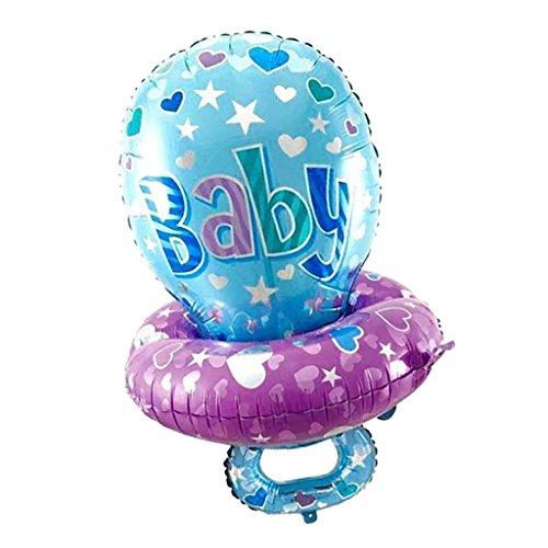 MagiDeal Baby Schnuller Muster Ballon - Riesen Ballon - für Geburtstag Jubiläum & Party Geschenk Dekoration Folienballon Luftballon - Blau, 45 x 75 cm