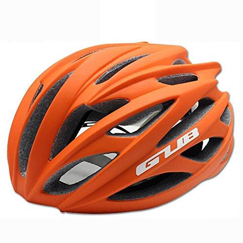 MIAO Fahrradhelm - Outdoor Männliche und weibliche Road / Mountain Bike Fahrradhelme mit Skelett , matte orange